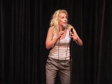 Sara Pascoe onstage looking sexy