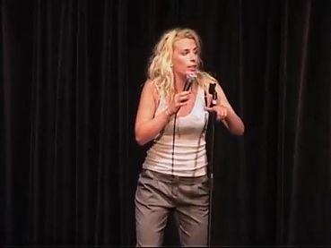 Sara Pascoe onstage looking sexy